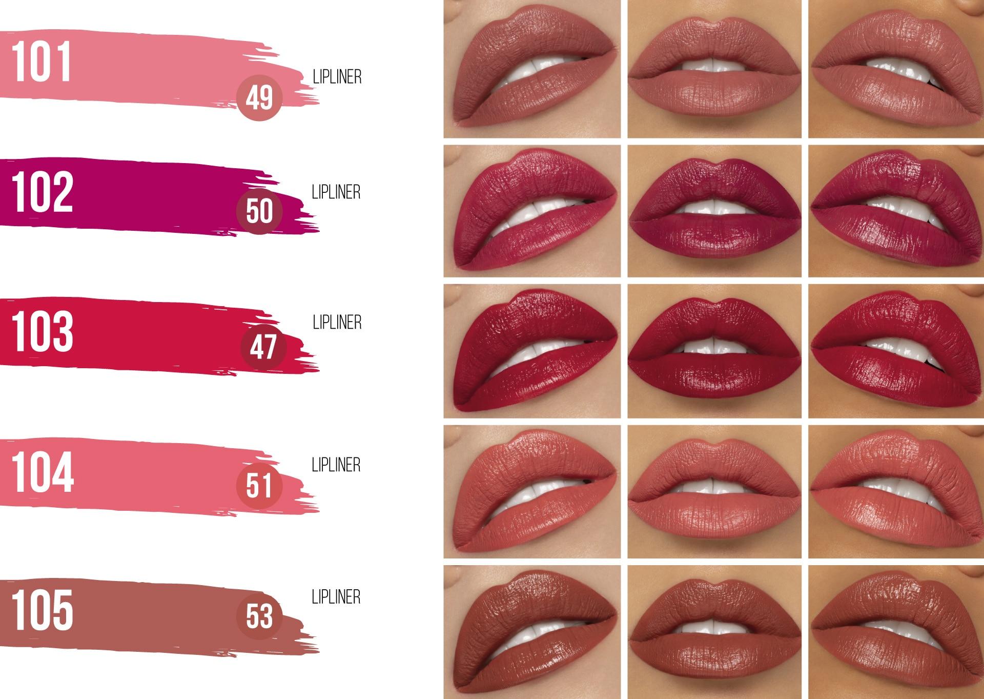 pour un contour des lèvres parfait avec les nouveaux crayons à lèvres
